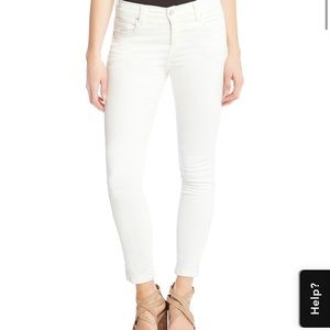 NWT Karen Kane Zuma Crop white Jean, size 10